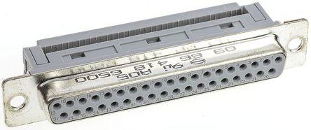 Sub-D Buchse, 1.27mm, 37-polig, rechtwinklig