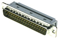 Sub-D Stecker, 1.27mm, 37-polig, rechtwinklig